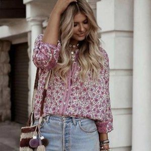 Spell & The Gypsy Jasmine Blouse Top Size XL